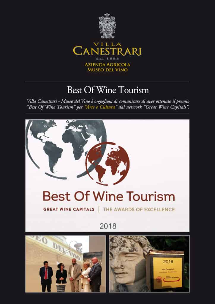 Best of wine tourism 2018 Villa Canestrari