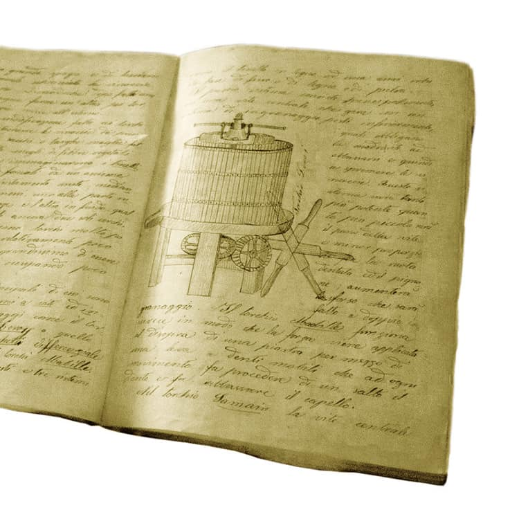 Museo del Vino di Verona, il libro con gli appunti del 1886