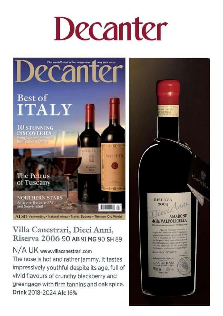 Decanter - Villa Canestrari
