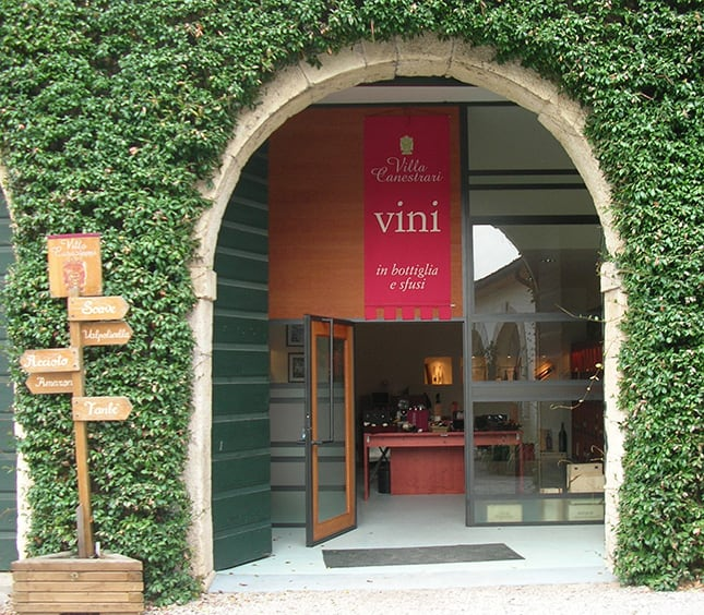 Wine shop Villa Canestrari