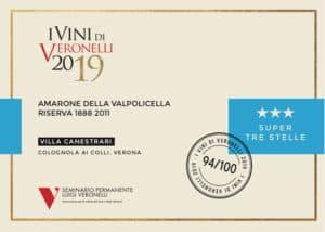 I vini Veronelli 2019 - Amarone 1888 del 2011