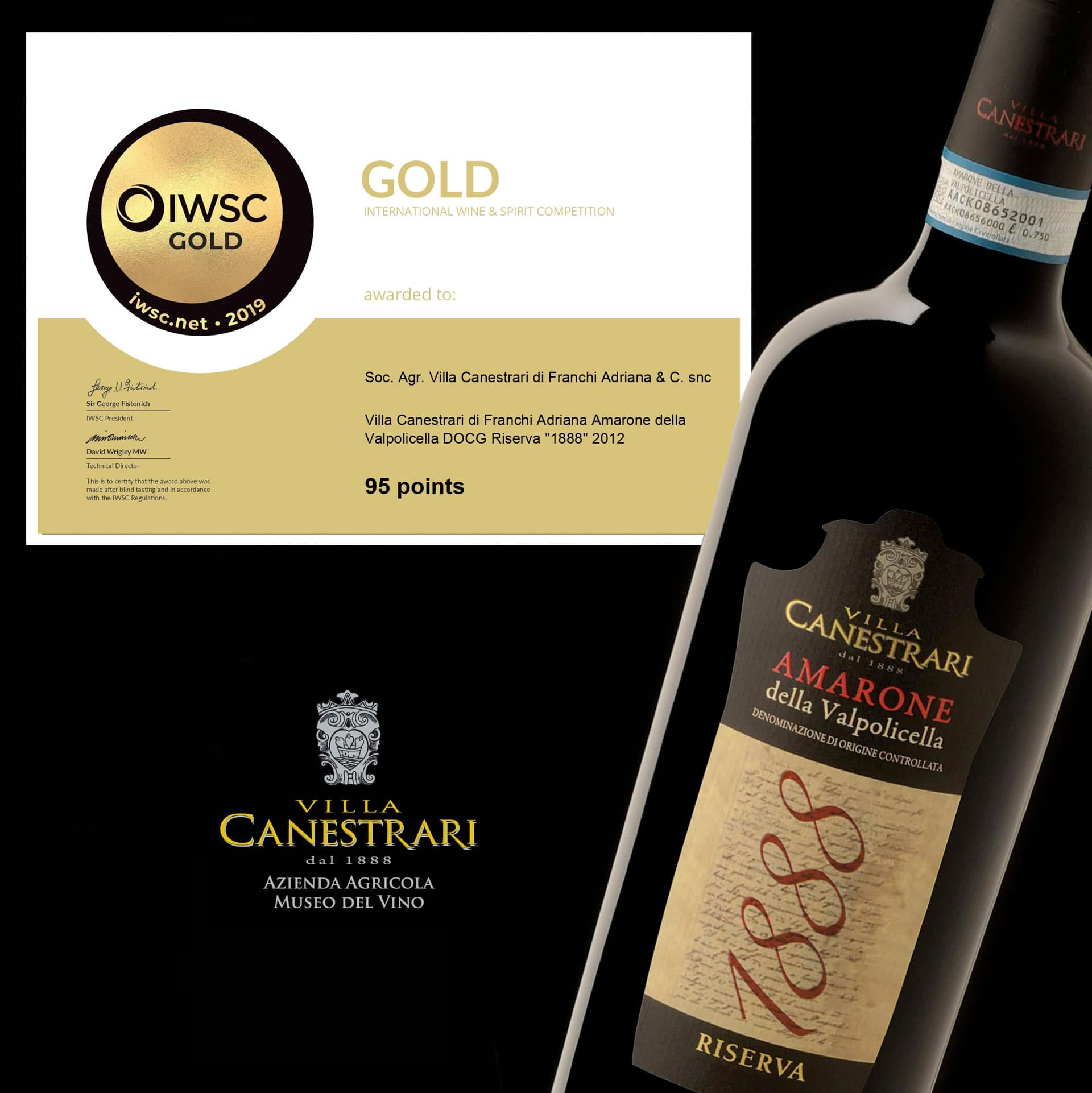 Premio IWSC gold home villa Canestrari